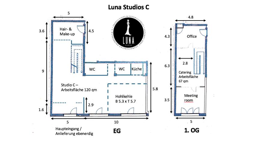 Grundriss Luna Studios C